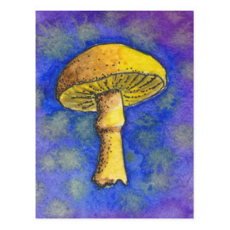 Carte postale magique de champignon