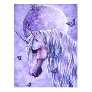 Carte postale magique éclairée par la lune