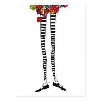 Carte postale maigre de jambes