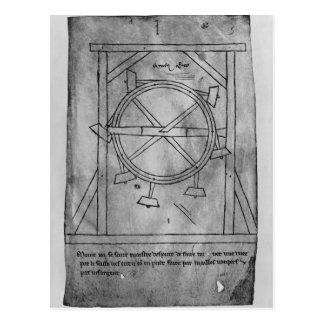 Carte Postale Maillets et roue de mouvement censément perpétuel