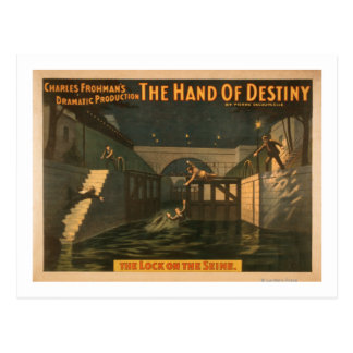 "Carte Postale Main de destin ""la serrure sur la Seine """
