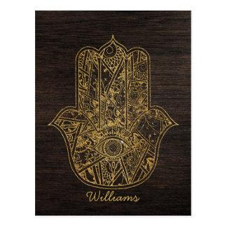 Carte Postale Main de HAMSA de conception d'amulette de symbole