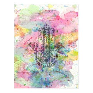 Carte Postale Main de HAMSA de symbole de Fatima