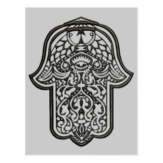Carte Postale Main de henné de Hamsa (original)