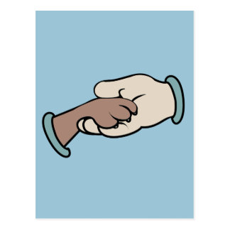 Carte Postale main et paw