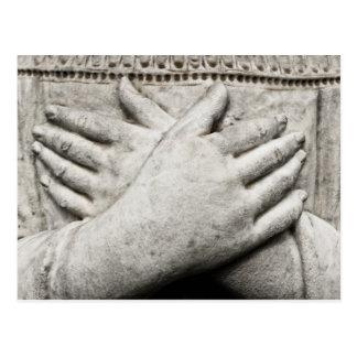 Carte Postale Mains dans la prière