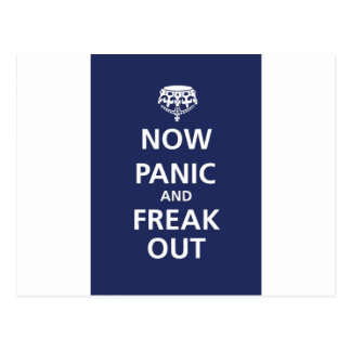 Carte Postale Maintenant la panique et freak