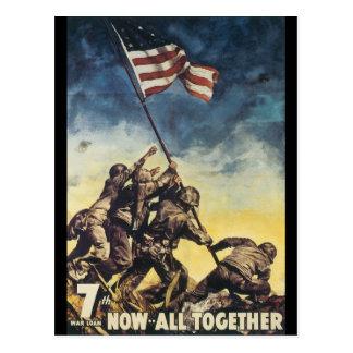 Carte Postale Maintenant tous ensemble guerre mondiale 2
