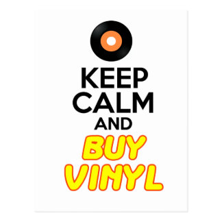 Carte Postale Maintenez calme et achetez le vinyle