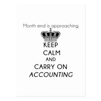 Carte Postale Maintenez calme et continuez la comptabilité