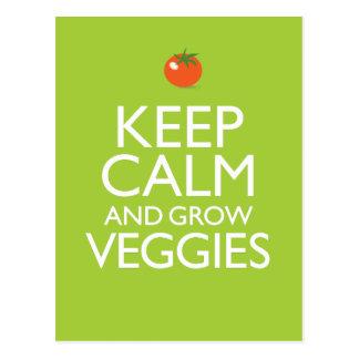 Carte Postale Maintenez calme et cultivez le légume