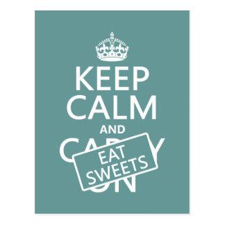 Carte Postale Maintenez calme et mangez les bonbons