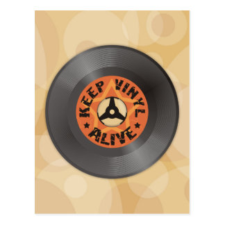 Carte Postale Maintenez le vinyle vivant