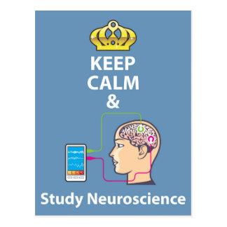 Carte Postale Maintenez vecteur calme et d'étude de neurologie