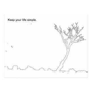 Carte Postale Maintenez votre vie simple