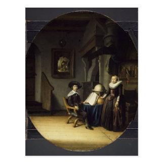 Carte Postale Maire Hasselaar et son épouse par Gerrit Dou