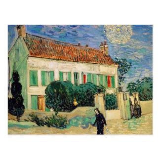 Carte Postale Maison blanche la nuit - Vincent van Gogh