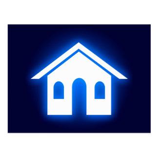 Carte Postale maison bleue de lueur