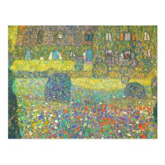 Carte Postale Maison de campagne de Gustav Klimt par l'Attersee