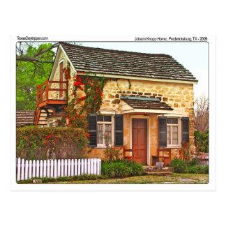 Carte Postale Maison de Johann Knopp, Fredericksburg, TX