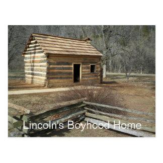 Carte Postale Maison de l'enfance de Lincoln, crique de bouton,