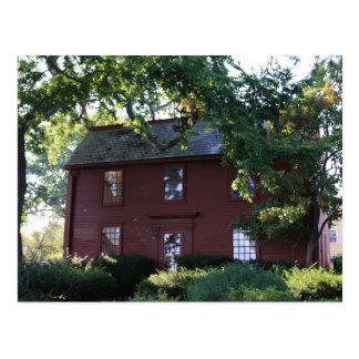 Carte Postale Maison de Nathaniel Hawthorne