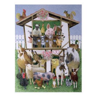 Carte Postale Maison de théâtre animale