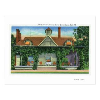 Carte Postale Maison d'été de Mark Twain, ferme de carrière