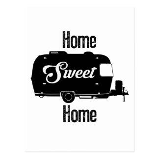 Carte Postale Maison douce à la maison - remorque vintage de cru