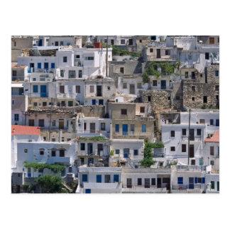 Carte Postale maisons dans Naxos