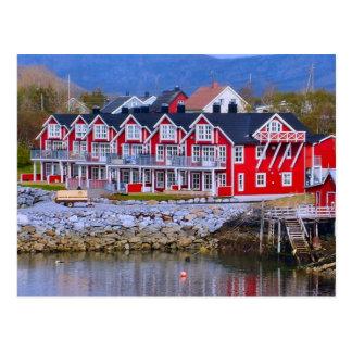 Carte Postale Maisons de la Norvège, Bergen Waterside