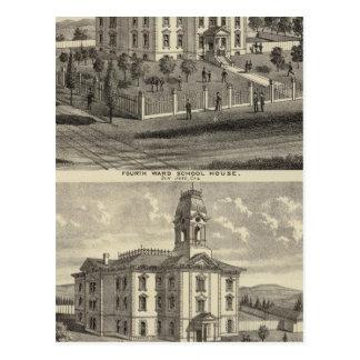 Carte Postale Maisons d'école, San Jose, la Californie