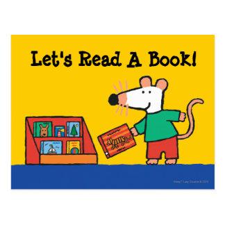 Carte Postale Maisy avec des livres de bibliothèque