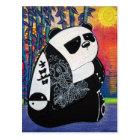 Carte Postale Maître de zen de panda