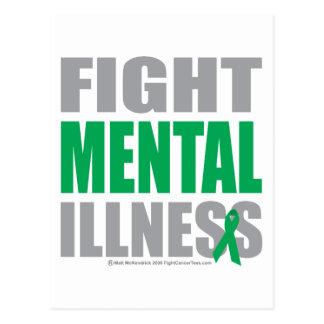 Carte Postale Maladie mentale de combat