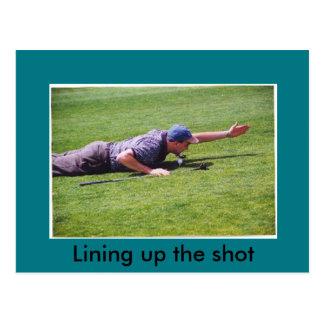 Carte postale maladroite de golf