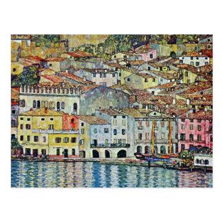 Carte Postale Malcesine sur le policier de lac par Gustav Klimt