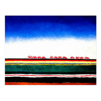 Carte Postale Malevich - cavalerie rouge