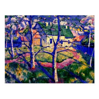 Carte Postale Malevich - pommiers Dans la fleur