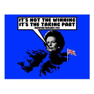 Carte Postale Malouines drôles de Thatcher