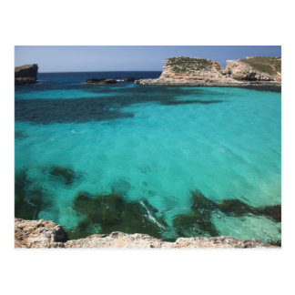 Carte Postale Malte, île de Comino, la lagune bleue