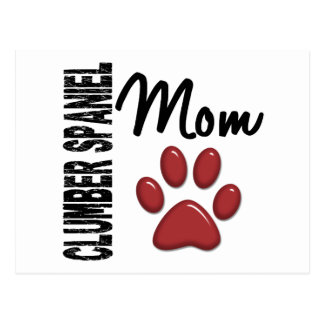Carte Postale Maman 2 d'épagneul de Clumber