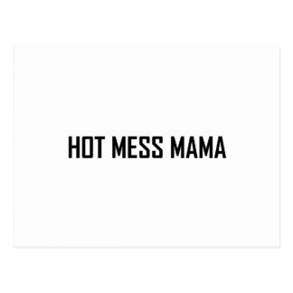 Carte Postale Maman chaude de désordre