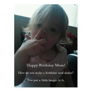 Carte Postale Maman de danseur de joyeux anniversaire