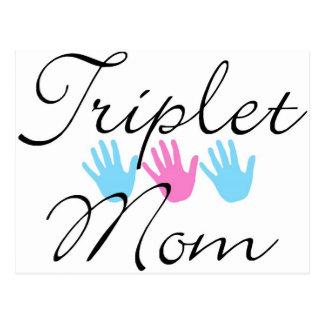 Carte Postale maman de triplet