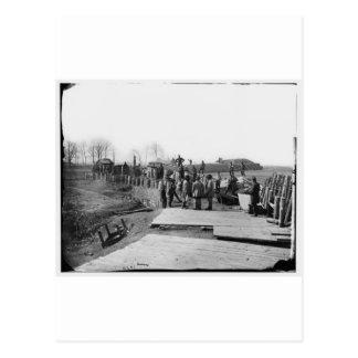 Carte Postale Manassas, Va. Fortifications confédérées