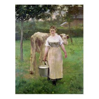 Carte Postale Manda Lametrie, la domestique de ferme, 1887