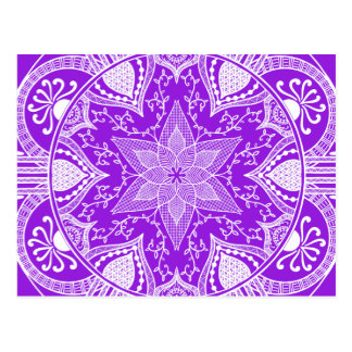 Carte Postale Mandala d'améthyste