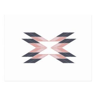 Carte Postale Mandala de conception sur Ethno blanc