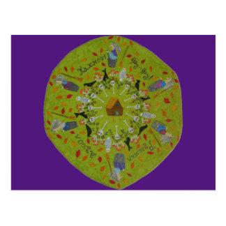 Carte Postale Mandala de Yaga de baba